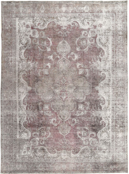 Colored Vintage Rug 287X388 Authentic  Modern Handknotted Light Grey/Dark Grey Large (Wool, Pakistan)