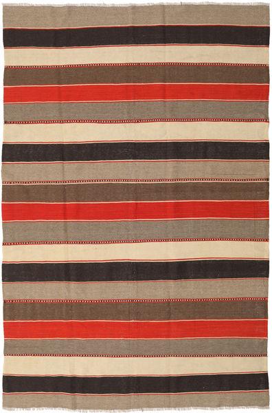 Kilim Rug 190X288 Authentic  Oriental Handwoven Light Brown/Dark Grey (Wool, Persia/Iran)