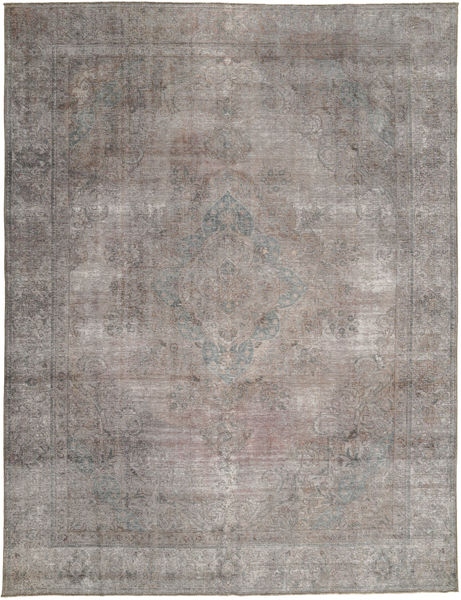 Colored Vintage Rug 284X375 Authentic  Modern Handknotted Light Grey/Dark Grey Large (Wool, Pakistan)