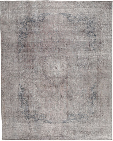 Colored Vintage Rug 280X348 Authentic  Modern Handknotted Light Grey/Dark Grey Large (Wool, Pakistan)