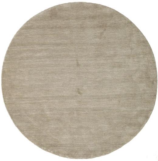 Handloom - Grå Matta Ø 200 Modern Rund Ljusbrun/Ljusgrå (Ull, Indien)