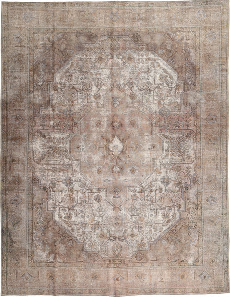 Colored Vintage Rug 297X383 Authentic  Modern Handknotted Light Brown/Light Grey Large (Wool, Pakistan)