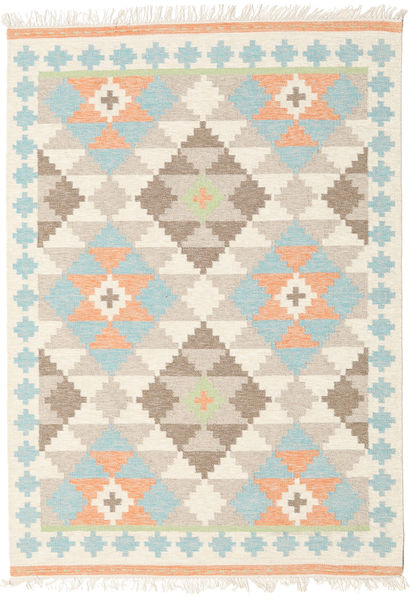 Summer Kilim Rug 160X230 Authentic  Modern Handwoven Beige/Light Grey (Wool, India)