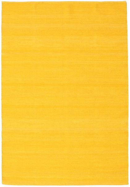 Kilim Loom - Yellow Rug 140X200 Authentic  Modern Handwoven Yellow (Wool, India)