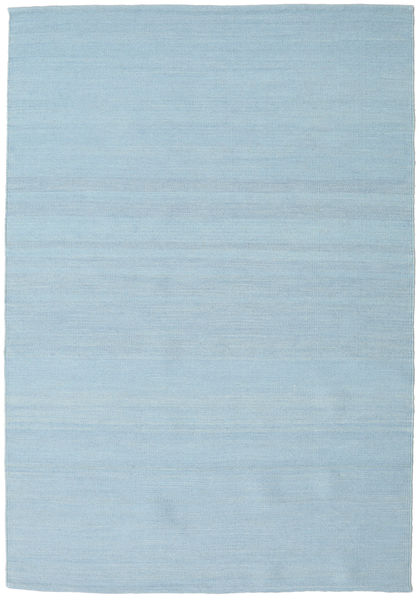 Kilim Loom - Light Blue Rug 140X200 Authentic  Modern Handwoven Light Blue (Wool, India)