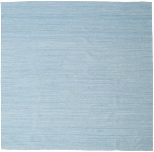 Kilim Loom - Jasnoniebieski Dywan 250X250 Nowoczesny Tkany Ręcznie Kwadratowy Jasnoniebieski Duży (Wełna, Indie)