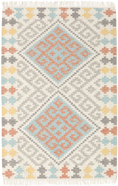 Summer Kilim Rug 120X180 Authentic  Modern Handwoven Light Grey/Beige (Wool, India)