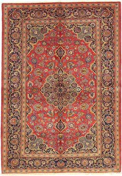 Keshan Sherkat Farsh Alfombra 139X205 Oriental Hecha A Mano Marrón Claro/Óxido/Roja (Lana, Persia/Irán)