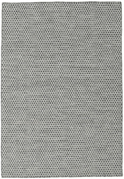 Kilim Honey Comb - Black / Grey carpet CVD18736