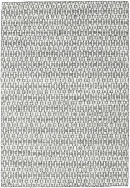 Kelim Long Stitch - Tumma Harmaa Matto 160X230 Moderni Käsinkudottu Vaaleanharmaa/Tummanharmaa (Villa, Intia)