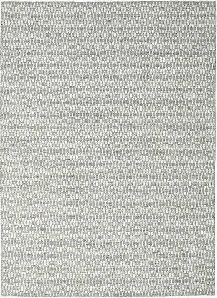 Kilim Long Stitch - Grey Rug 210X290 Authentic  Modern Handwoven Light Grey/Beige (Wool, India)