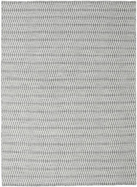 Kelim Long Stitch - Donker Grijs tapijt CVD18828