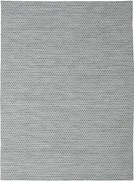 Kilim Honey Comb - Dark Grey rug CVD18756