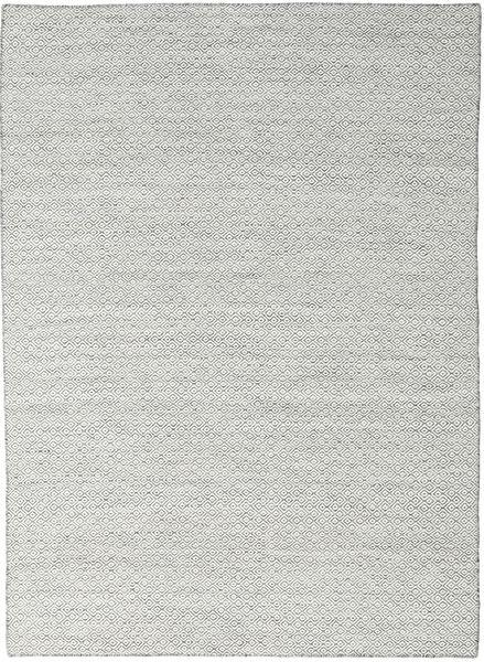 Kilim Goose Eye - Dark Grey Rug 210X290 Authentic  Modern Handwoven Light Grey/Beige (Wool, India)