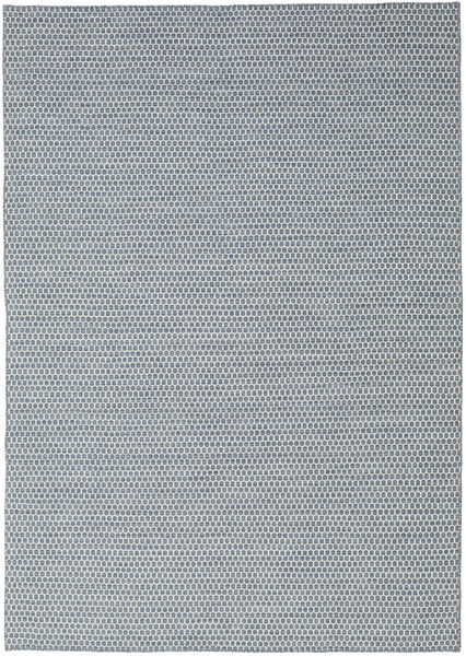Kilim Honey Comb - Blue Rug 240X340 Authentic  Modern Handwoven Light Grey/Light Blue (Wool, India)