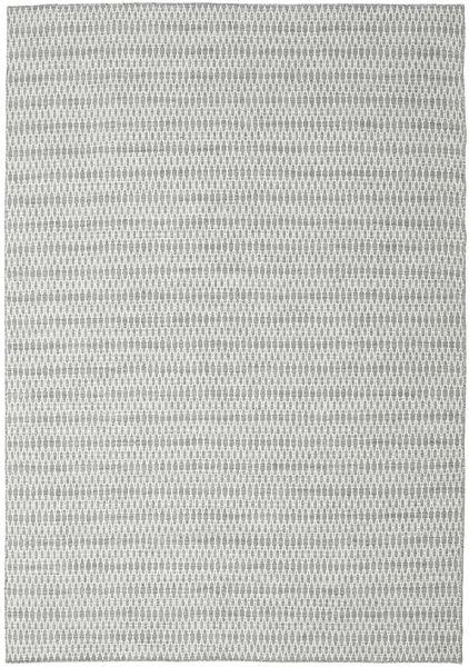 Kelim Long Stitch - Harmaa Matto 240X340 Moderni Käsinkudottu Vaaleanharmaa/Beige (Villa, Intia)