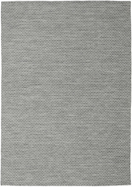 Kilim Honey Comb - Black/Grey Rug 240X340 Authentic  Modern Handwoven Light Grey/Dark Grey (Wool, India)