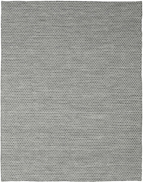 Kilim Honey Comb - Black/Grey Rug 240X300 Authentic  Modern Handwoven Light Grey/Dark Grey (Wool, India)