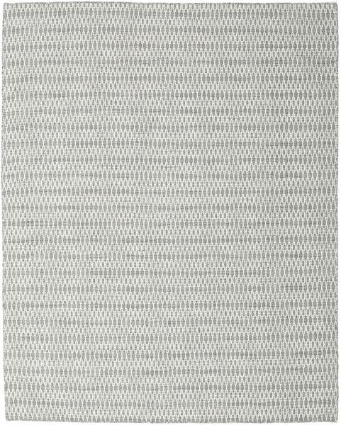 Kelim Long Stitch - Harmaa Matto 240X300 Moderni Käsinkudottu Vaaleanharmaa/Beige (Villa, Intia)