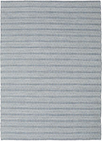 Kilim Long Stitch - Blue Rug 210X290 Authentic  Modern Handwoven Light Grey/White/Creme/Light Blue (Wool, India)