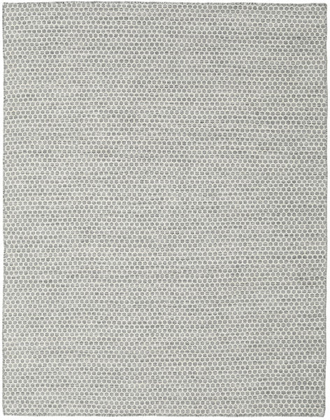 Kilim Honey Comb - Grey Rug 190X240 Authentic  Modern Handwoven Light Grey/Beige (Wool, India)