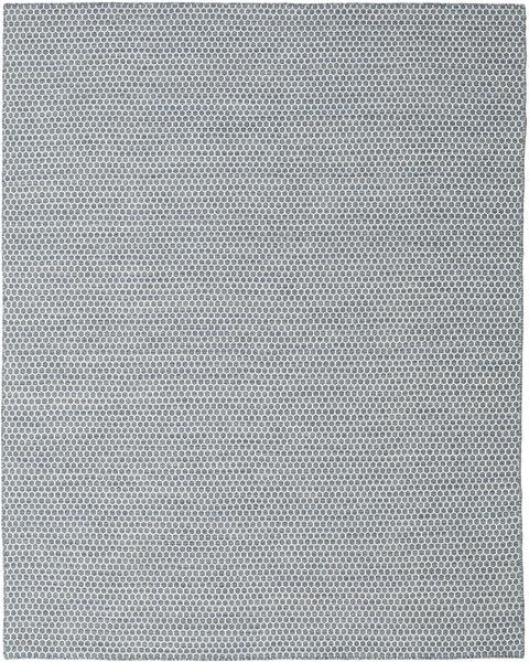 Kilim Honey Comb - Blue Rug 240X300 Authentic  Modern Handwoven Light Grey/Light Blue (Wool, India)