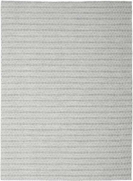 Kelim Long Stitch - Harmaa Matto 290X390 Moderni Käsinkudottu Vaaleanharmaa/Beige Isot (Villa, Intia)