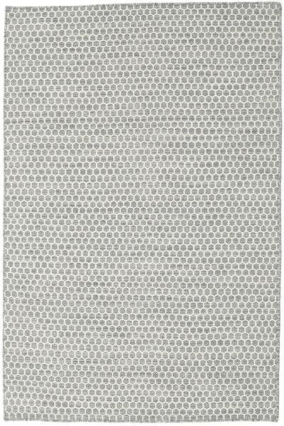Kilim Honey Comb - Gris Tapis 120X180 Moderne Tissé À La Main Gris Clair/Beige (Laine, Inde)
