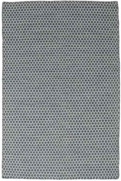 Kelim Honey Comb - Sininen Matto 120X180 Moderni Käsinkudottu Tummanharmaa/Vaaleanharmaa (Villa, Intia)