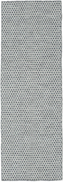 Kilim Honey Comb - Dark Grey carpet CVD18759