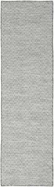 Kelim Goose Eye - Zwart / Grijs tapijt CVD18889