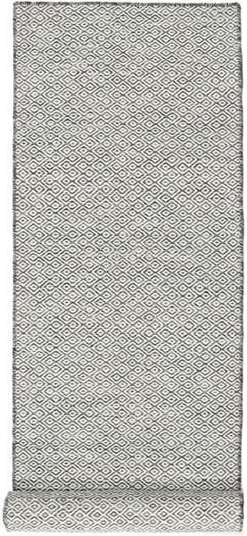 Kelim Goose Eye - Svart / Grå matta CVD18886
