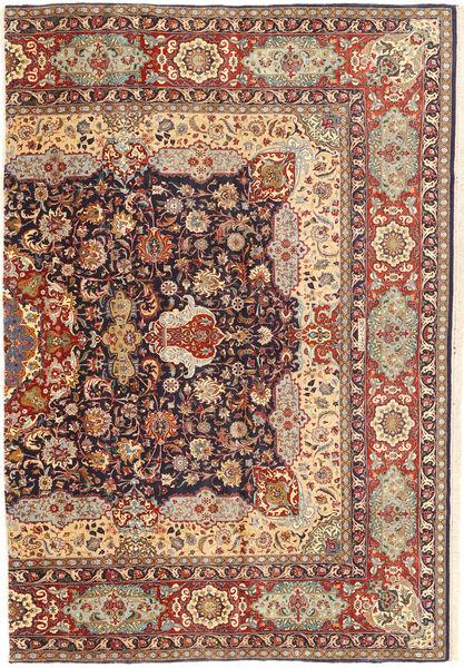 Tabriz Alfombra 160X240 Oriental Hecha A Mano Marrón/Marrón Claro (Lana, Persia/Irán)