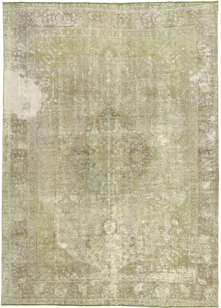 Colored Vintage Rug 234X326 Authentic  Modern Handknotted Dark Beige/Pastel Green (Wool, Pakistan)