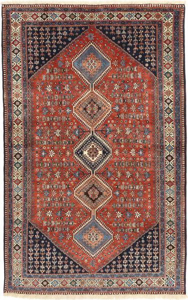 Yalameh Rug 160X255 Authentic  Oriental Handknotted Dark Red/Dark Blue (Wool, Persia/Iran)
