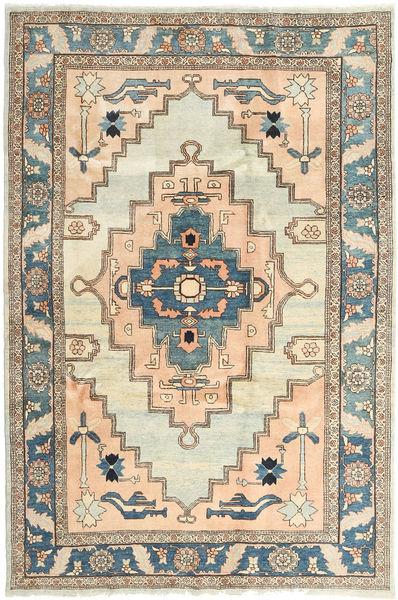 Heriz Rug 198X298 Authentic  Oriental Handknotted Light Brown/Beige (Wool, Persia/Iran)