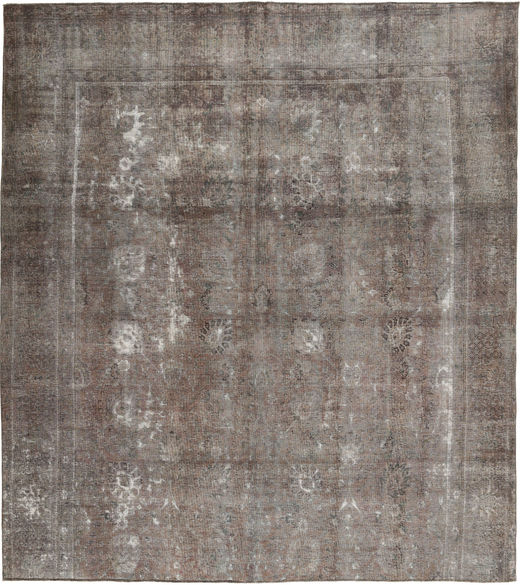 Colored Vintage Rug 291X325 Authentic  Modern Handknotted Light Grey/Dark Grey Large (Wool, Pakistan)