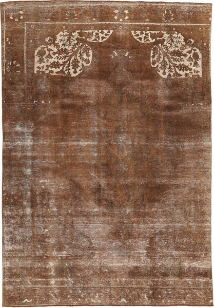 Colored Vintage Tapis 210X317 Moderne Fait Main Marron/Marron Clair (Laine, Pakistan)