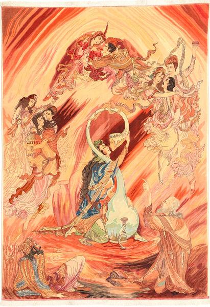 Alfombra Tabriz 60 Raj AXVZZH186