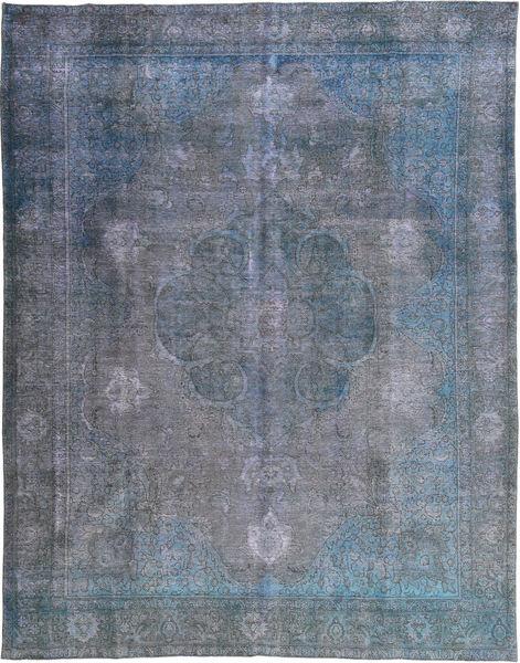 カラード ヴィンテージ 絨毯 298X383 モダン 手織り 濃いグレー/水色/青 大きな (ウール, パキスタン)