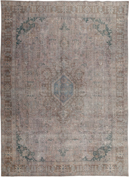 Colored Vintage Rug 279X383 Authentic  Modern Handknotted Light Grey/Dark Grey Large (Wool, Pakistan)