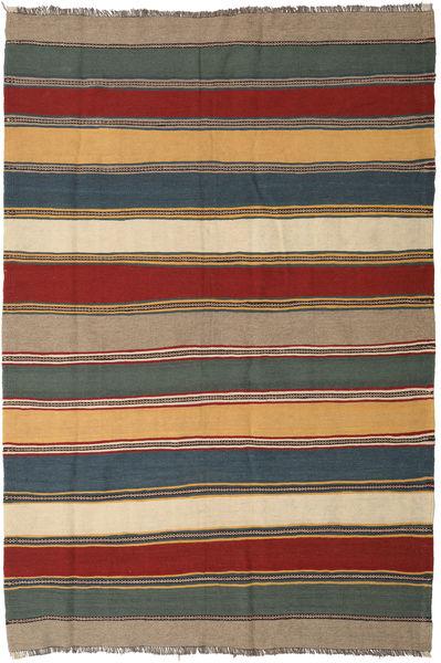 Kelim Teppe 171X254 Ekte Orientalsk Håndvevd Lysbrun/Mørk Blå (Ull, Persia/Iran)