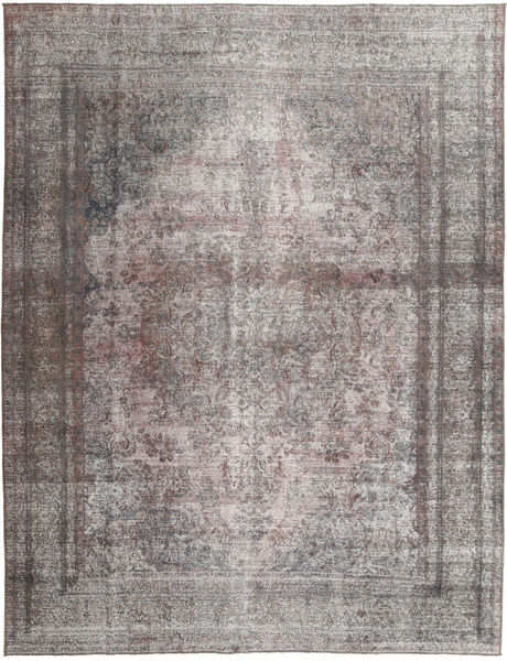Colored Vintage Rug 296X377 Authentic  Modern Handknotted Light Grey/Dark Grey Large (Wool, Pakistan)