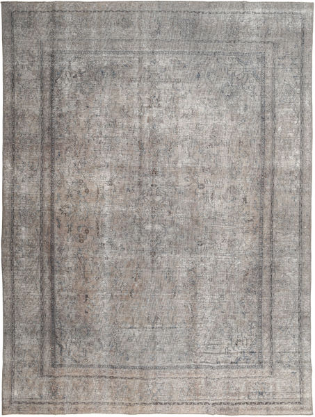 Colored Vintage Rug 279X370 Authentic  Modern Handknotted Light Grey/Dark Grey Large (Wool, Pakistan)