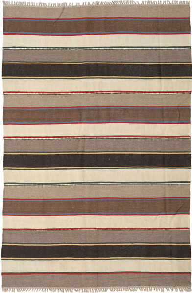 Kilim Rug 175X266 Authentic  Oriental Handwoven Beige/Dark Grey (Wool, Persia/Iran)