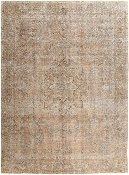 Vintage Teppe 286X381 Ekte Moderne Håndknyttet Lysbrun/Lys Grå Stort (Ull, Pakistan)