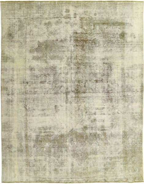 Colored Vintage Rug 274X350 Authentic  Modern Handknotted Light Grey/Pastel Green Large (Wool, Pakistan)