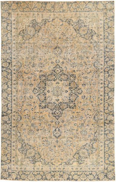 Colored Vintage Teppe 198X318 Ekte Moderne Håndknyttet Beige/Mørk Beige (Ull, Persia/Iran)