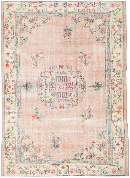 Colored Vintage Rug 198X278 Authentic  Modern Handknotted Light Pink/White/Creme (Wool, Turkey)