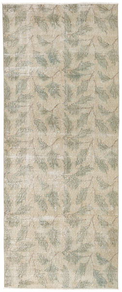 Colored Vintage Rug 92X226 Authentic  Modern Handknotted Hallway Runner  Light Grey/Dark Beige (Wool, Turkey)
